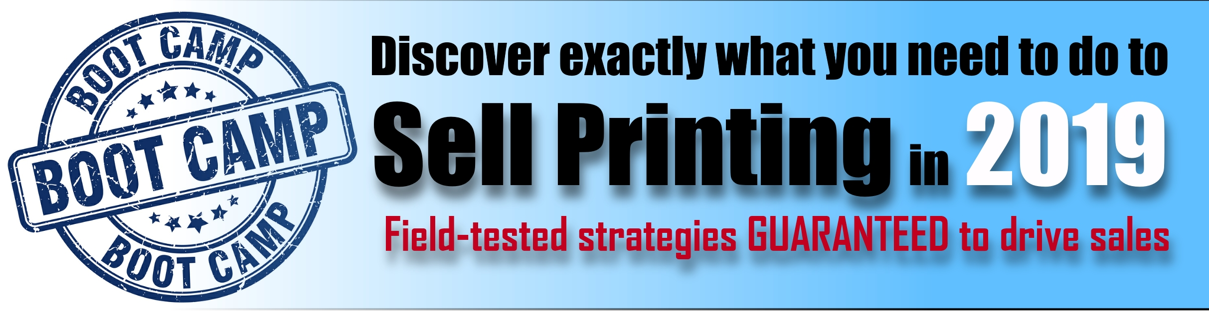 The Printing Industry's Leading Sales Trainer